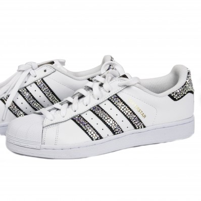 on sale e404b 2c520 ADIDAS SUPER STAR STRASS TOTAL LOOK