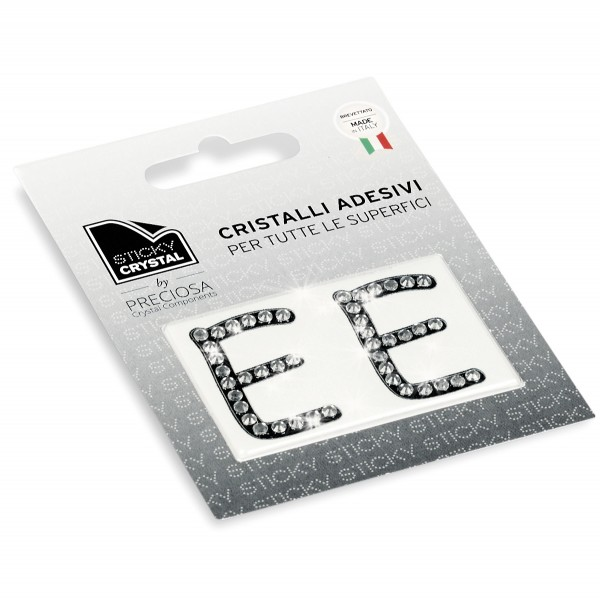 STICKY CRYSTAL® COLLECTION LETTERA E