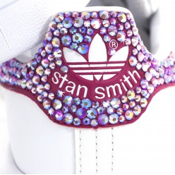 Adisas Stan Smith Pink with Rhinestones Preciosa sale online
