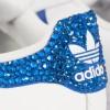 Scarpe Adidas Super Star 3 Stripes Ray Blue con Strass