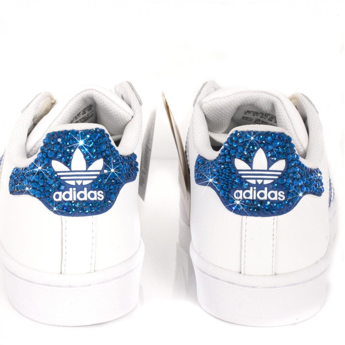 adidas bianche e blu superstar