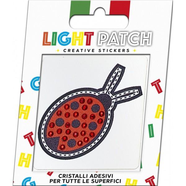 Light Red Crystals Ladybug Sticker Patch sale online, best price