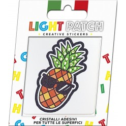 Light Green Crystals Pineapple Sticker Patch