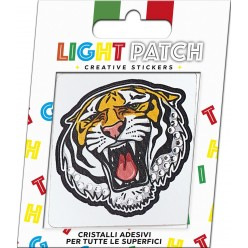 Light Crystal Tiger Sticker Patch