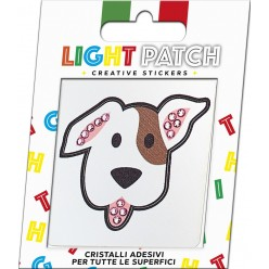 Light Patch Dog Sticker Amethyst Crystals