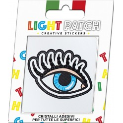 Light Patch Occhio Aperto Sticker Cristalli Jet
