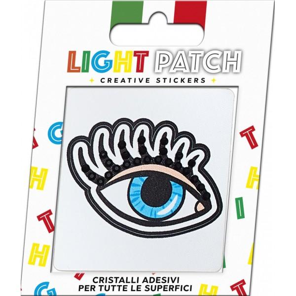 Light Patch Occhio Aperto Sticker Cristalli Jet
