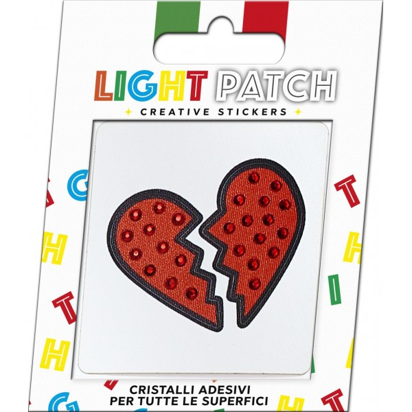 Light Patch Broken Heart Sticker Light Siam Crystals sale
