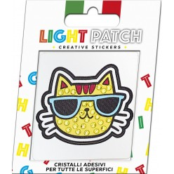 Light Citrine Crystals Cat Sticker Patch