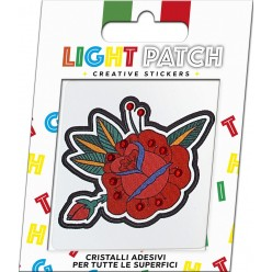 Light Patch Rosa Sticker Cristalli Light Siam