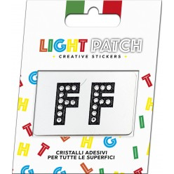 Lettres patch léger FF Sticker Crystals Black Cry Meilleur Prix