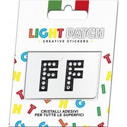 Light Patch Lettere FF Sticker Cristalli Nero Cry miglior prezzo