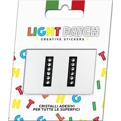 Light Patch Letters II Sticker Cristaux noirs Cry Meilleur Prix