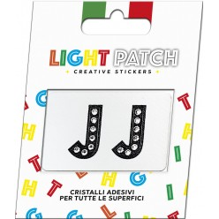 Light Patch Letters JJ Sticker Black Crystals Cry sale online