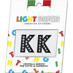 Light Patch Letters KK Sticker Black Crystals Cry sale online