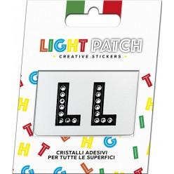 Light Patch Lettere LL Sticker Cristalli Nero Cry miglior prezzo