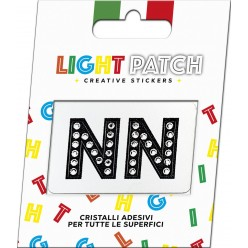 Light Patch Letters NN Sticker Black Crystals Cry sale online