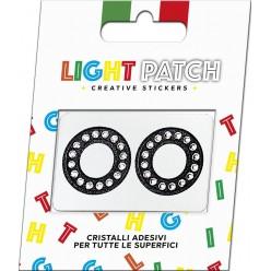 Light Patch Letters OO Sticker Cristaux noirs Cry Meilleur Prix