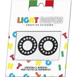 Light Patch Lettere OO Sticker Cristalli Nero Cry miglior prezzo
