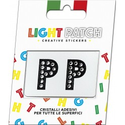 Light Patch Lettere PP Sticker Cristalli Nero Cry