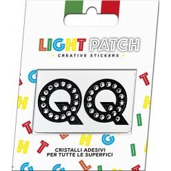 Light Patch Lettere QQ Sticker Cristalli Nero Cry miglior prezzo