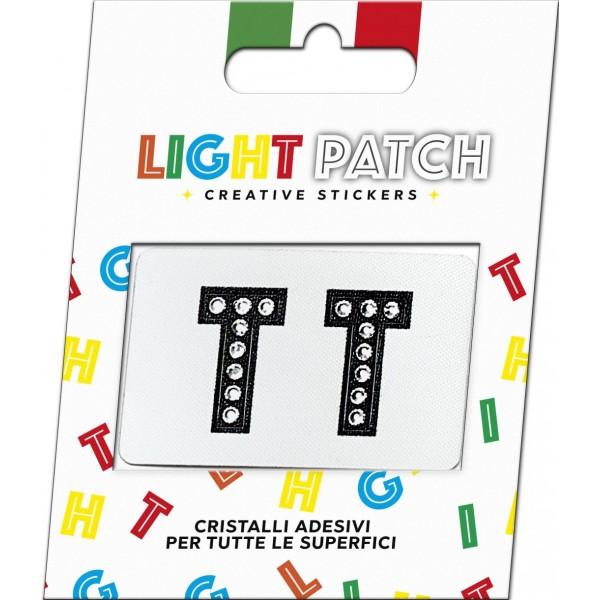 Light Patch Lettere TT Sticker Cristalli Nero Cry
