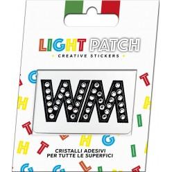 Light Patch Letters WW Sticker Cristaux Black Cry Meilleur Prix