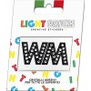 Light Patch Lettere WW Sticker Cristalli Nero Cry