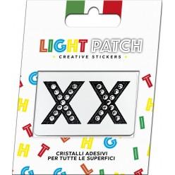 Light Patch Letters XX Sticker Cristaux noirs Cry Meilleur Prix