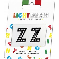 Light Patch Lettere ZZ Sticker Cristalli Nero Cry