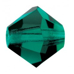 PRECIOSA BICONES MM4 EMERALDS-Pack of 144