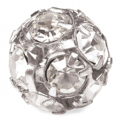 PRECIOSA CRYSTAL-BALL-Pack 5-PIECE SILVER MM12 sale online