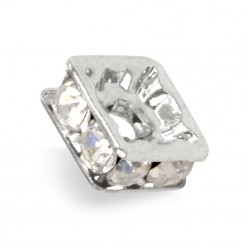 SQUARE WASHER MM6x6 silver-PRECIOSA CRYSTAL-box of 20 PIECES