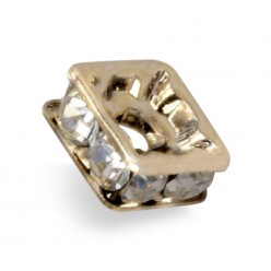 MM STRASS PRECIOSA 6x6 LAVEUSE CARRÉE CRYSTAL-GOLD-PACK 20