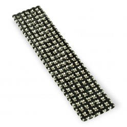NETWORK CHAIN RHINESTONE MAXIMA BLACK-Silver (5 mm)-6 SS19