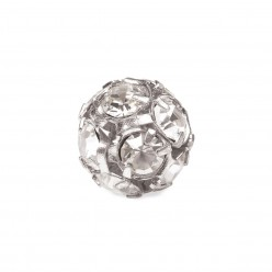 PRECIOSA CRYSTAL-BALL-Pack 5-PIECE SILVER MM8