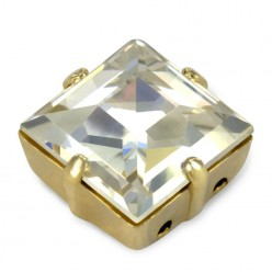 10x10 SQUARE CRYSTAL-gold-3pcs