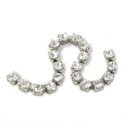 METAL CHAIN SS12 (3, 5 mm) CRYSTAL-silver-1MT
