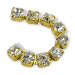 CATENA METALLO SS18 (4,5mm) CRYSTAL-ORO-1MT