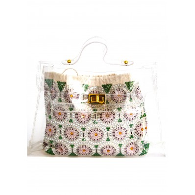 Iconic bag with Rhinestones Preciosa sale online, best price