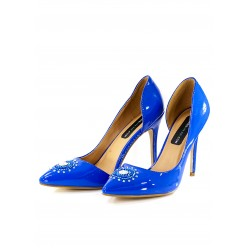 BLUE STILETTO with Preciosa SZ 39